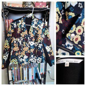 Rachel Roy 2x Plus Size Floral Moto Jacket